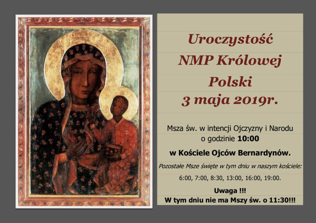 Uroczystość 3 maj w klasztorze Ojców Bernardynów